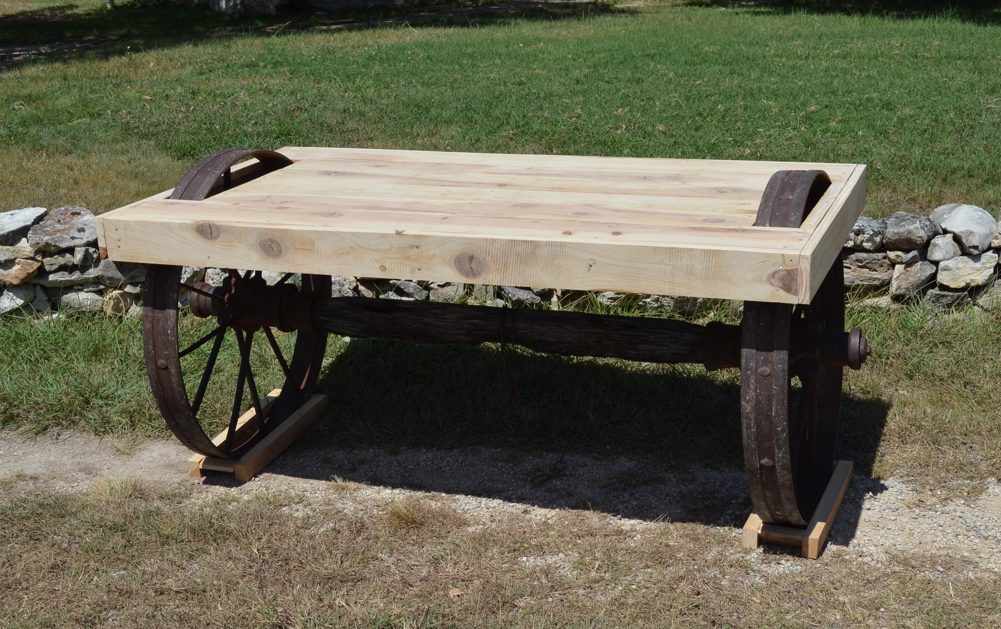 Rustic Wagon Wheel Table Sycamore Creek Creations - Ranch style table